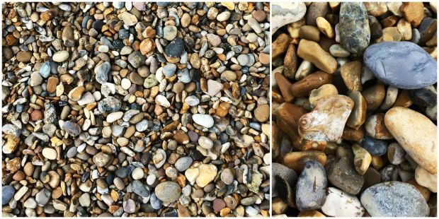 Coast pebbles collage