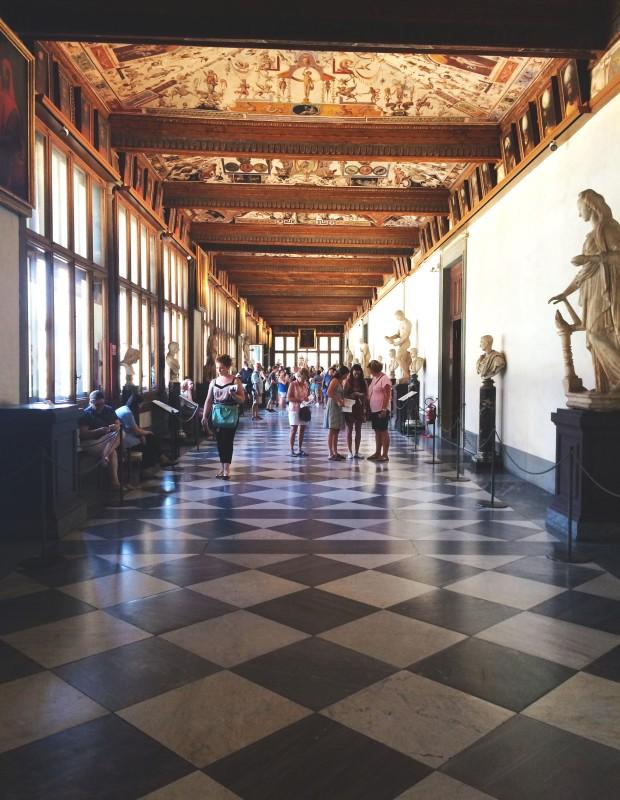 Florence Uffizi hall