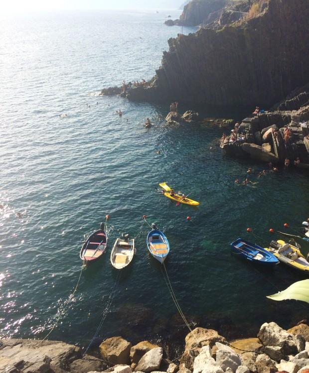 Cinque Riomaggiore boats