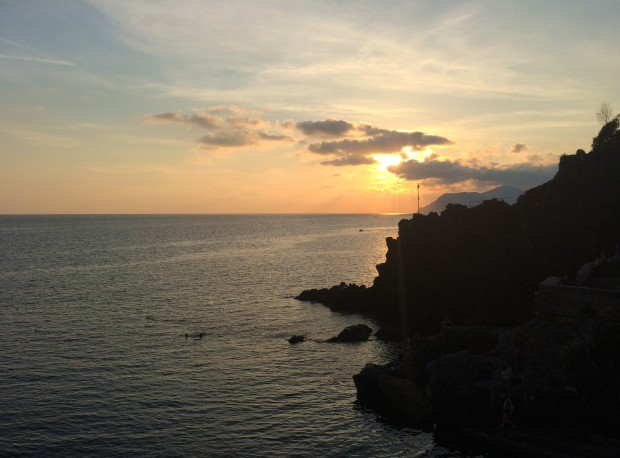 Cinque Riomaggiore sunset