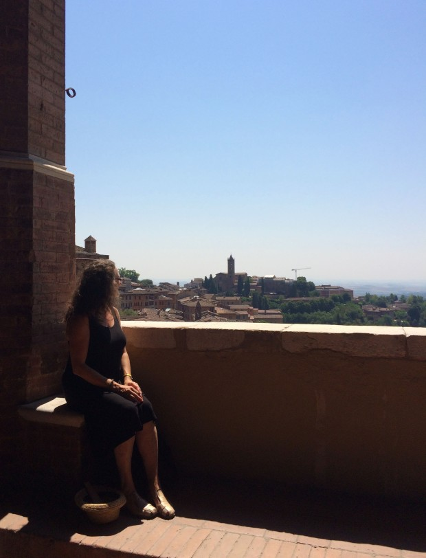 Siena looking over the city