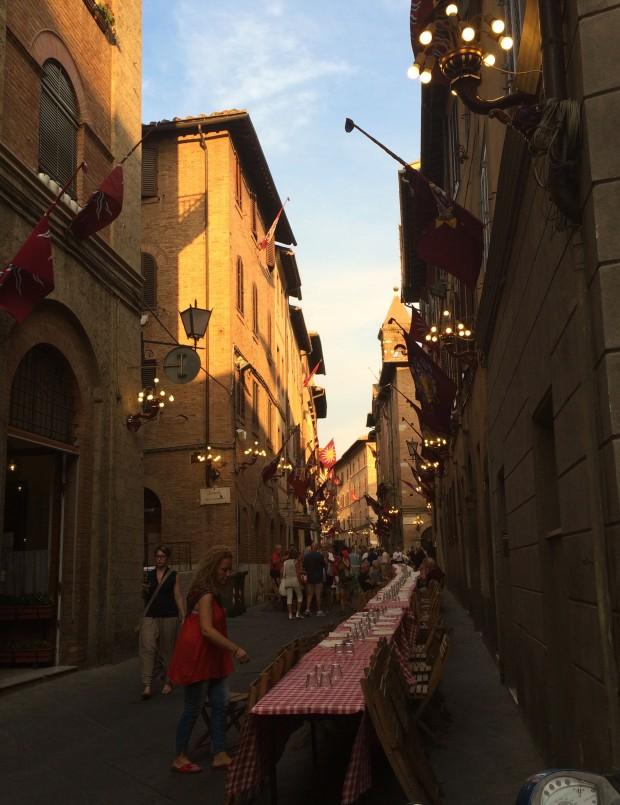 Siena street party